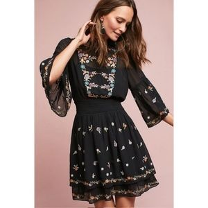 ANTHROPOLOGIE Anfisa Embroidered Dress
